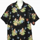 Mens Tommy Bahama Silk Shirt Floral Bathing Beauties Size Large