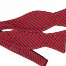 Ted Baker London Bow Tie Red Gray Wool Silk