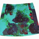 Womens J. Crew Skirt Floral Green Brown Red Abstract Size 4