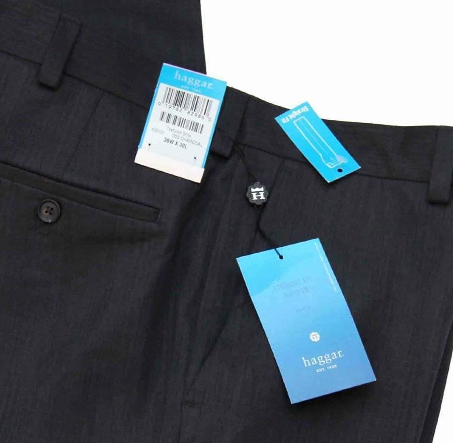 Haggar No Iron Dress Pants Charcoal Gray Men's Size 38 X 30