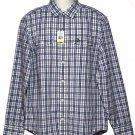 Munsingwear Penguin Plaid Shirt Blue White Size Medium