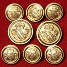 Mens David Taylor Blazer Buttons Set Gold Brass