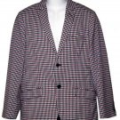 Ben Sherman Checkered Summer Blazer Red White Blue Size Slim 38R