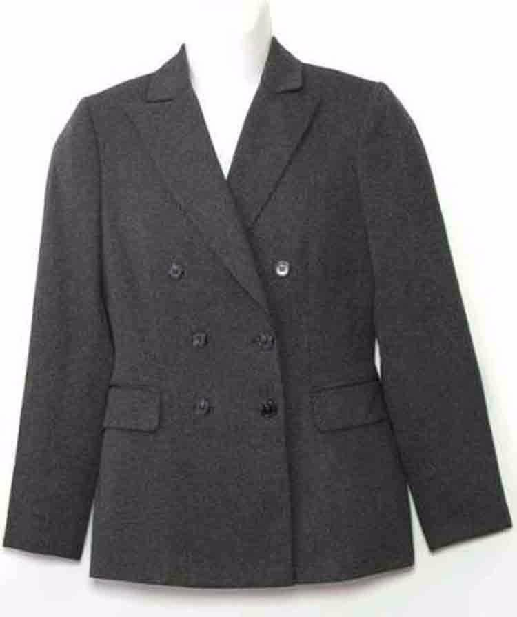 Tahari Double-Breasted Blazer Gray Women's Size 4