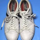 Men's Lacoste Sport Leather Sneakers White Size 10.5 Narrow