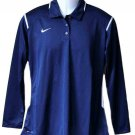 Nike Polo Shirt Navy Blue Dri-Fit Size Large
