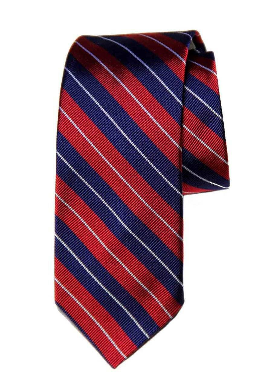 Brooks Brothers Striped Silk Tie Red White Blue Narrow Men's