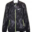 Nike Reflective Windbreaker Jacket Black Gray Yellow Men's Size Slim XL