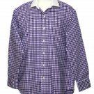 Ralph Lauren Non-Iron Dress Shirt Purple Check Men's Size 16 X 32/33