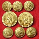 Mens Excelsior Blazer Buttons Set Gold Brass