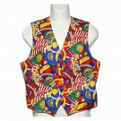 Colorful Pendleton Vest Nautical Theme Women's Size 12