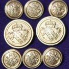 Mens Arnold Palmer Blazer Buttons Set Gold Brass