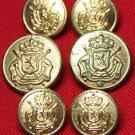 Mens Fratelli Blazer Buttons Set Vintage Gold Brass