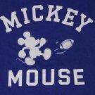 Uniqlo Disney T-Shirt Mickey Mouse Football Blue Men's Size Slim Medium