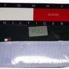 Tommy Hilfiger Full Size Flat Sheet Forest Green With Blue and White Stripe