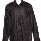 H&M Fleur des Lis Shirt Brown Men's Size 16.5 X 37 Large