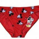Women's Disney Swim Bikini Bottom Mickey Red Black White Size 12