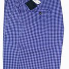 Brooks Brothers Shorts Blue Checks Flat Front Size 34