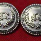 Two Mens Paris Sport Club Blazer Buttons Silver