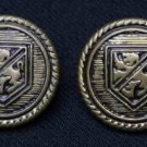 Two Mens Marcello Milanelli Blazer Buttons Antique Brass
