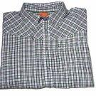 Merrell Snap Front Tattersall Short Sleeve Shirt Men's Size XL