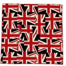 "Gascoigne Cotton Pocket Square British Union Jack Flat  Men's 9"" X 9"""