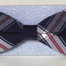 Madras Plaid Bow Tie Cotton One Size Red White Blue Men's
