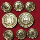 Mens Waterbury Enrico Fratelli Blazer Buttons Set Gold Brass