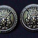 Two Mens Helsinborg Blazer Buttons Set Antique Brass Crown Griffin