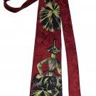 Vintage Franco Phillipe Italian Silk Tie Fan Dancer 1980s