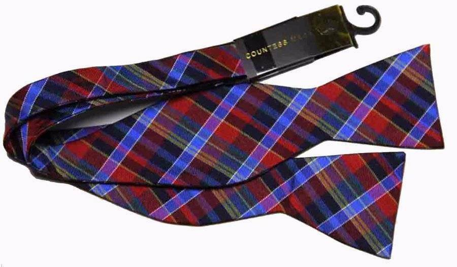 Countess Mara Bow Tie Multi-Color Plaid