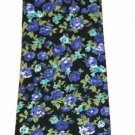 Colorful Cotton Floral Neck Tie Made by Cedar Wood State Narrow Men's