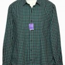 Vince Shirt Green Brown Gray Plaid Men's Size XL