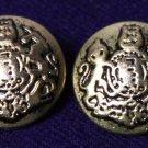 Two Mens Emperor Blazer Buttons Gold Metal Lion & Unicorn