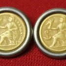 Two Emperor Blazer Buttons Caesar Gold and Nickle
