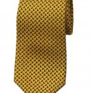 Brooks Brothers Silk Tie Yellow Black White Men's