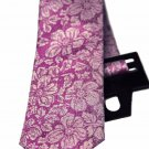 Ted Baker London Floral Silk Neck Tie Pink White Men's