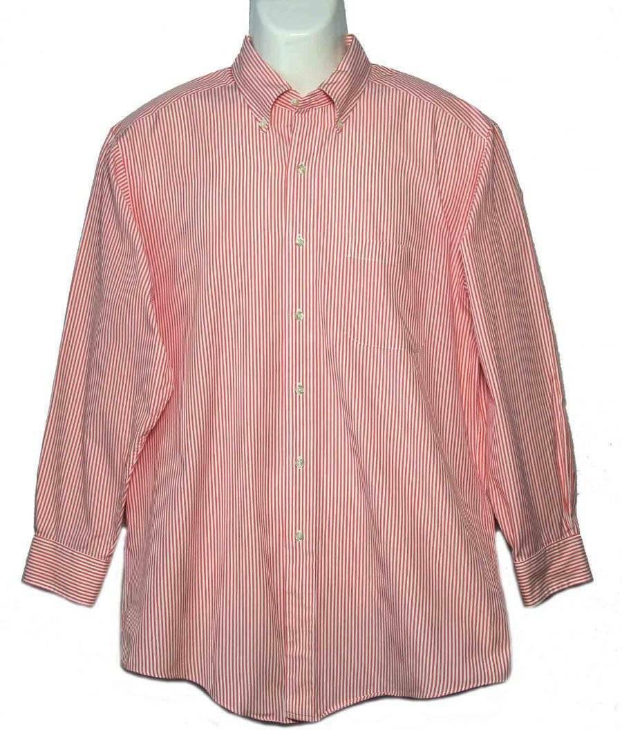Mens Brooks Brothers Dress Shirt Striped Size 15.5 X 32