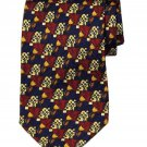 Vintage Ermenegildo Zegna Italian Silk Tie Geometric Tulips Men's 1980s