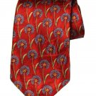 Joseph A Bank Italian Silk Tie Floral Red Blue Green Men's Long