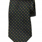 Vintage Brooks Brothers Tie Silk Navy Green Gold Geometric Men's