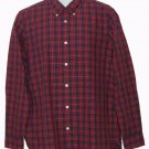 Mens Hickey Freeman Cotton Shirt Red Plaid Size Medium