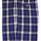 Mens J McLaughlin Shorts Blue White Gray Gingham Size 38
