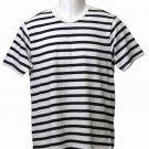 Mens Gap Nautical Stripe T-Shirt White Navy Size XS