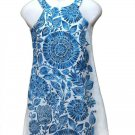 Just Taylor Dress Blue Teal White Floral Women's Sleeveless Size 2