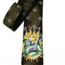 Ed Hardy Tie Silk King Bulldog Men's