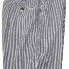 Greg Norman Seersucker Golf Shorts Flat Front Gray White Size 36