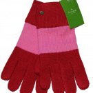 Kate Spade Gloves Color Block Red Pink Women's OS