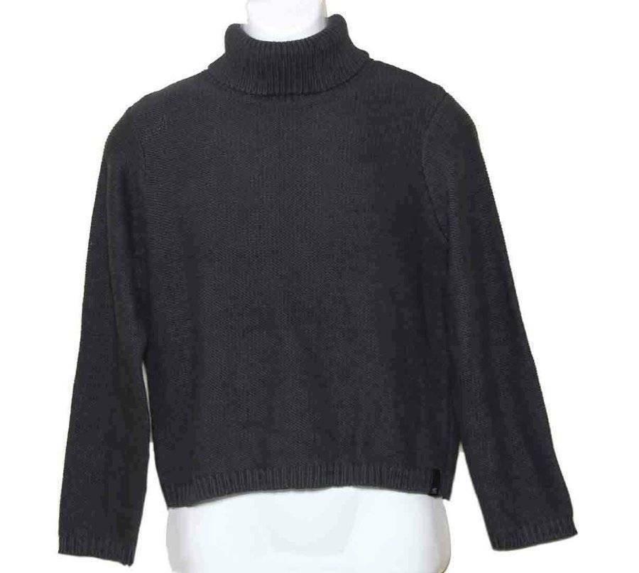 Calvin Klein Turtleneck Sweater Gray Cotton Blend Women's Size M