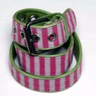 Marc Jacobs Belt Leather Fabric Pink Green Women's Size S - M